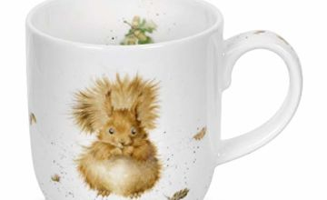 Portmeirion Home & Gifts Treetops Redhead (Squirrel) Single Mug, White and Brown