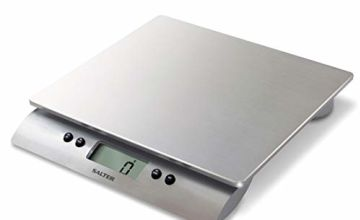 Salter Aquatronic Digital Kitchen Weighing Scales – Stylish Silver Design, Electronic Cooking Scale for Home/Kitchen, Weigh Food up to High Capacity of 10kg + Aquatronic Function -  15Yr Guarantee