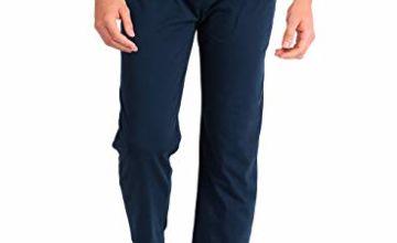 Men's Pyjama Set/Bottom, Cotton Nightwear Long Sleeves Top with Long Bottom Pants, Soft and Breathable Sleepwear