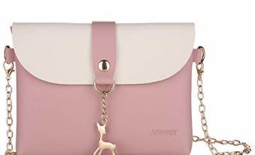 Small Crossbody Purse With Pendant,PU Leather Cross Body Shoulder Bag Phone Purse Handbags for Girls