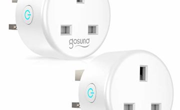 Smart Plug, Gosund WiFi Plugs Socket Work with Amazon Alexa, Google Home, Outlets with Remote Control Timer Function Energy Monitoring No Hub Required, 2 Pack, 2.4Ghz Only