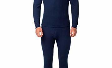 LAPASA Men's Thermal Underwear Set Thermal Underwear Men Thermals Men Long Sleeve Top & Bottom Long Johns for Men Thermal M11,M53,M57,M60