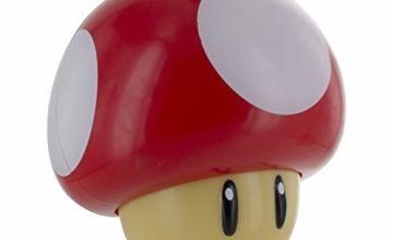 Super Mario Mushroom Light & Classic Game Sound | Push Down Turn On & Plays Mushroom Sound | Perfect Night Light For Kids | Desks , Shelves , Table Top | Soothing Moodlight | Retro & Iconic Lighting