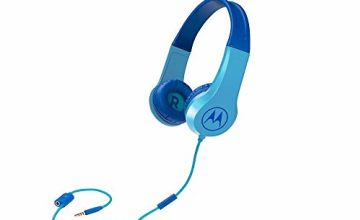 Save on Motorola Squads 200 Kids Wired Headphones with Anti-Allergic Cushion and In-Line Microphone - Blue and more