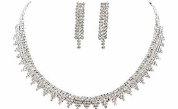 VN Trends Gorgeous Crystal Diamante Necklace and Earrings Se
