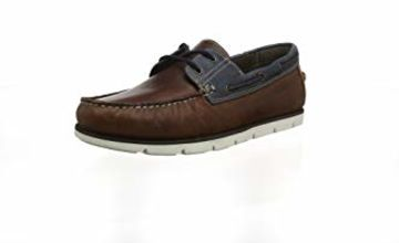 Save on Red Tape Men's Salcombe Boat Shoes, Brown (Wood/Navy 0), 10 (44 EU) and more