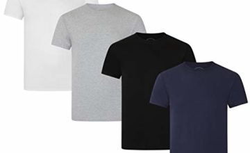 Save on FM London Men's Organic T-Shirt, Multicolour (Colours 10), X (Size:X-Large) (Pack of 4) and more