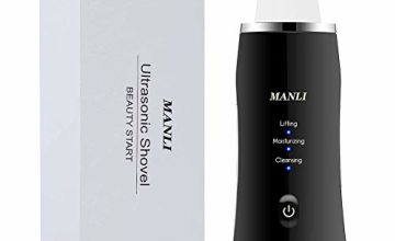 MANLI Face Scrubber Cuticle Remover, Ultrasonic Skin Scrubber Blackhead Remover Pore Scraper with 3 Modes,Wrinkle Remover Facial Cleansing Device,USB Charger face Scraper Tool