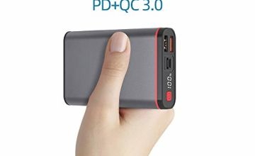 Power Bank 10000mAh 18W PD Portable Charger QC 3.0 Quick Charge Mini External Battery Pack USB C Power Delivery Input and Output Compatible for iPhone 11/11 Pro/X/XS/XR Samsung Galaxy Huawei and More