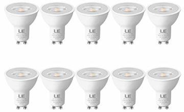 LE GU10 LED Bulbs, 50W Halogen Spotlight Equivalent, 4W 350lm, Warm White 2700K, 36° Spot Light, Pack of 10