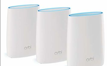 NETGEAR Orbi Tri-band Whole Home Mesh Wi-Fi System with 3Gbps Speed (RBK53) – Router and Extender Replacement Covers Up to 6,000 sq ft (525 sq m) , Pack of 3 Includes 1 Router and 2 Satellites