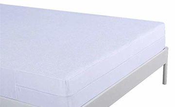 Umi. Essentials Waterproof & Anti Bed Bug Mattress Protector, Total Encasement Cover with Zipper