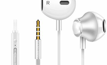 GLANDU Earphones, In-ear Earphones, Wired Headset With Mic & Remote Controller, Powerful Bass Sound,Noise Isolating Earbuds, Built-In Microphone Ear Hooks For All 3.5mm Audio Jack.