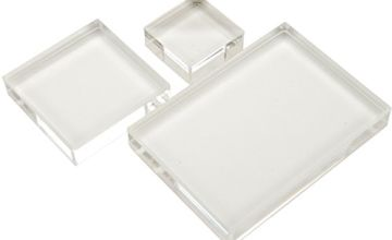 Apple Pie Memories 1.25 x 1.25-inch/ 2 x 2-inch/ 2.5 x 3.5-inch Acrylic Stamp Block Set, Pack of 3, Transparent