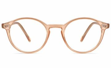 TIJN Blue Light Blocking Glasses Computer PC Glasses Round Eyeglasses Frame Non Prescription Glasses for Women and Men