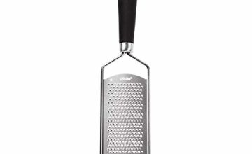iNeibo Kitchen Cheese Grater & Lemon Zester - Sharp 18/8 Stainless Steel Blade - Ergonomic TPR Handle - Easy To Grate Or Zest Lemon, Orange, Citrus, Cheese, Chocolate, Nuts, Gingers, Garlic