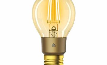 TP-Link KL60 E27 Wi-Fi Bulb, 5 W, Works with Amazon Alexa and Google Home, 450 Lumens, Dimmable, Remote Control, No Hub Required, Warm Amber Colour