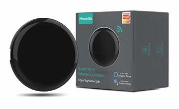MoesGo WiFi IR Control Hub for Smart Appliances via Voice and Smart Life/Tuya App, Compatible with Amazon Echo and Google Home