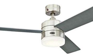 Westinghouse Lighting Alta Vista Ceiling Fan, Metal, Integrated, 17 W, Stainless Steel