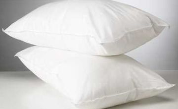Linens Limited Polycotton Hollowfibre Non-Allergenic Pillows, 4 Pack