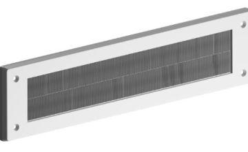 STORMGUARD 06SR0150000W Internal PVC Letter Box Brush Cover-White, Aluminium, External dimentions 335mm x 75mm Aperture 279mm x45mm