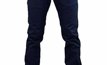 Mens Chinos Trousers Slim Fit Jeans Stretch Straight Leg Pants
