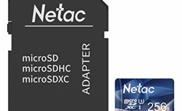 Netac Micro SD Memory Card, MicroSDHC Card UHS-I, 90/10MB/s(R/W), 600X, C10, U1, A1, V10, Full HD, C10, TF Card for Camera, Smartphone, Security System, Drone, Dash Cam, Gopro, Tablet, DSLRs
