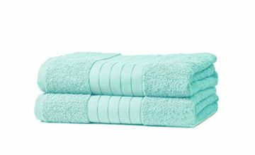 Dreamscene Luxury 100% Cotton 2 x Jumbo Bath Sheets Extra Large Towels Bale - Aqua