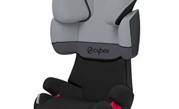 Cybex Silver Solution X-Fix Child's Car Seat, For Cars with and without ISOFIX, Group 2/3 (15-36 kg), From approx. 3 to approx. 12 years, Cobblestone