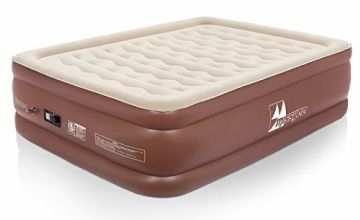 Missyee King Size Double Queen Air Bed - Elevated Inflatable Air Mattress, Electric Built-in Pump, With a Storage Bag and Repair Kits, Guest & Indoor Use, Height 56cm