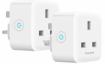 Smart Plug TECKIN 13A WiFi Socket Compatible with Alexa Echo Google Home IFTTT, Timing Function Remote Control No Hub Required 2 Pack
