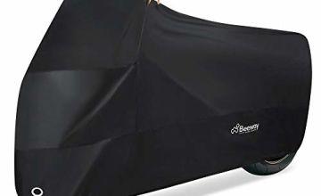 Motorbike Cover, Beeway® 190T Nylon Waterproof Motorcycle Cover - Anti Dust Rain UV Indoor Outdoor Protection with Lock-holes Storage Bag, XXL