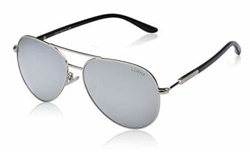 LUENX Sunglasses Mens Womens Polarized Metal Frame Large 60mm Suitable Driving Beach Fashion Travelling