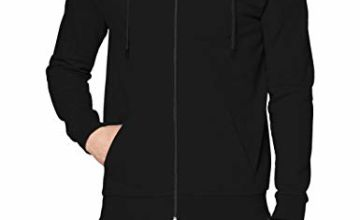 Save on FM London Men's HyFresh Zipped Hoodie, (Black 01), Small (Size:S) and more