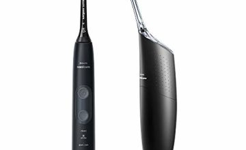 Philips Sonicare ProtectiveClean 5100 Electric Toothbrush and Philips AirFloss Pro Power Flosser, Black (UK 2-Pin Bathroom Plug) - HX8491/74