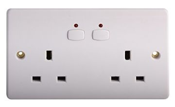 Energenie MIHO007 Double Wall Socket [White] [Energy Class
