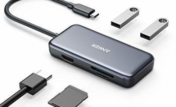 Anker USB C Hub Adapter, 5-in-1 USB C Adapter, with 4K USB C to HDMI, SD and microSD Card Reader, 2 USB 3.0 Ports, for MacBook Pro 2019/2018/2017, iPad Pro 2019/2018, Pixelbook, XPS, and More