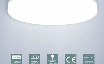 Ceiling Light, 22W LED Round Ceiling Light Ø 30cm Indoor Flush Mount Ceiling Lamp 1900lm 4500K Daylight White Ceiling Lights for Kitchen Bathroom Bedroom Hallway