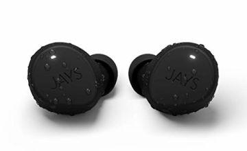 Jays True Wireless Bluetooth Headphones - m-Seven - Earphones In-Ear 38h Playtime & Mic