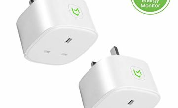 Meross Smart Plug WiFi Socket Work with Alexa Echo, Google Home, Smart Plugs with Energy Control No Hub Required 13A (2-Pack)