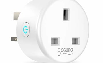 Smart Plug, Gosund Alexa Smart Plugs Works with Amazon Alexa, Google Home and IFTTT, WiFi Plugs Energy Monitoring Timing Function, No Hub Required (1 Pack)
