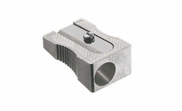 Faber-Castell 183100Metal Pencil Sharpener 50for Coloured and Coloured Pencils