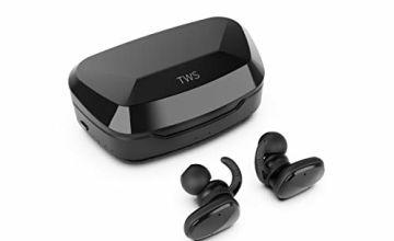 Proze TWS-03 True Wireless Earphones - Bluetooth 5.0 HD Sound EQ 60H Mic IPX5 Power Bank