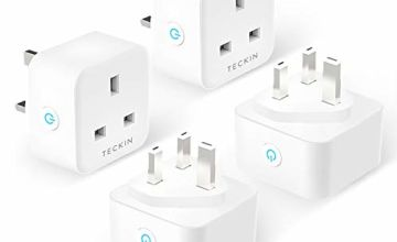 Smart Plug TECKIN 13A WiFi Socket Works with Alexa Echo Google Home, Timing Function Remote Control No Hub Required 4 Pack