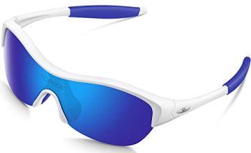 TOREGE Tr90 Flexible Kids Sports Sunglasses Polarized Glasses for Junior Boys Girls Age 3-15 TR001