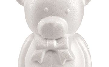 Glorex 38037486Styrofoam Bear, White, 14x 7x 10, 5cm