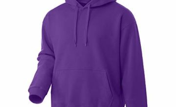 Men Hoodie Fleece Sweatshirt Pullover Long Sleeve Heavyweight Performance Slim Fit Small Big