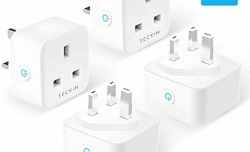 TECKIN Smart Plug 13A, WiFi Outlet Works with Alexa Google Home, Alexa Plugs with Timing Function Remote Control and Plug Timer, No Hub Required, 2.4Ghz Only, 4 Pack
