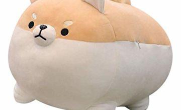 "Corgi Plush Shiba Inu Plush Animal Hugging Pillow Toddler Toy Soft Stuffed Pillow Cute Dog Stuffed Pillows Comfortable Doll Cushion Toys Children Plush Toy Shiba Inu Pillows Gift 19.6"" Brown"