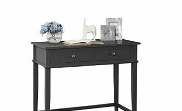 Ameriwood Writing Desk, Wood, Black, One